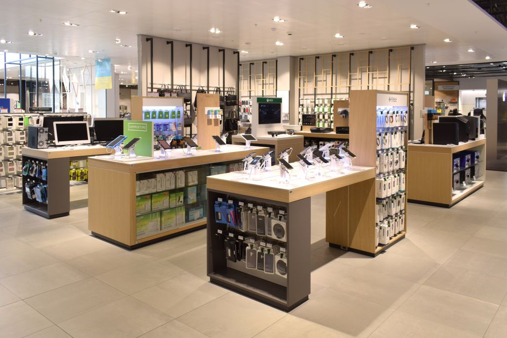 John Lewis Westfield - retail displays manufactured by Aspen Concepts Ltd
