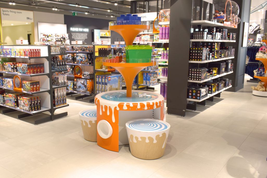 John Lewis Westfield - toy retail displays manufactured by Aspen Concepts Ltd