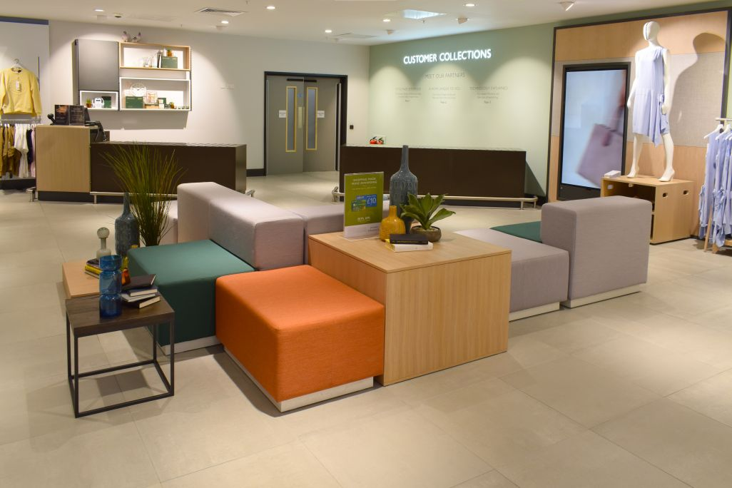 John Lewis Westfield - customer services area manufactured by Aspen Concepts Ltd