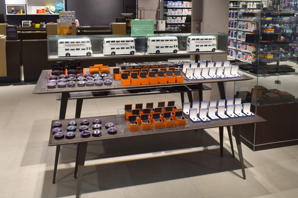 John Lewis Westfield - retail displays manufactured by Aspen Concepts Ltd - men's accessories