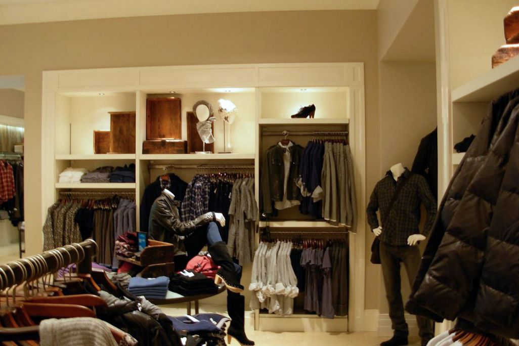 Menswear clothing display manufactured and installed by Aspen Concepts