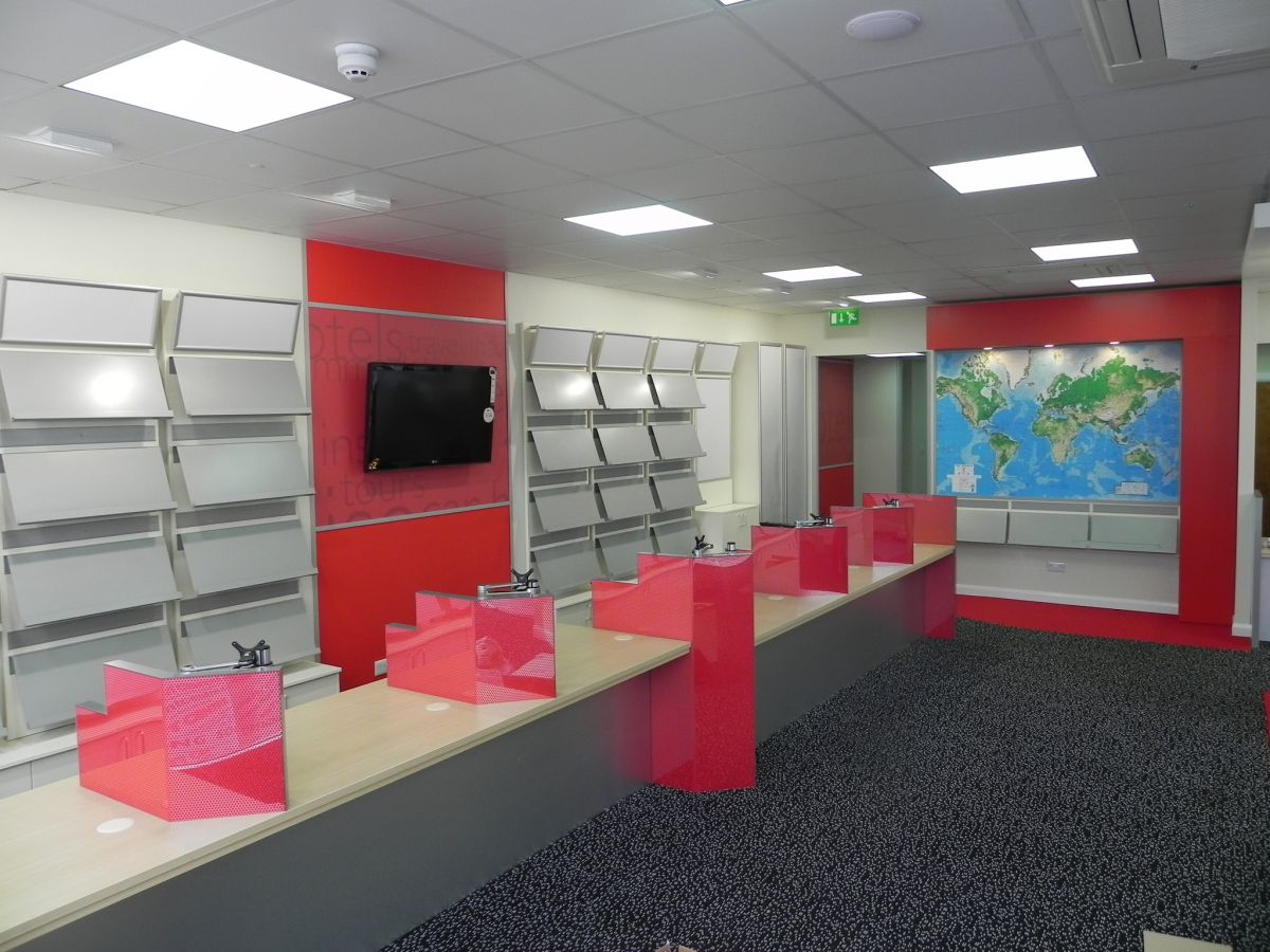 travel agent desks installed and manufactured by Aspen Concepts