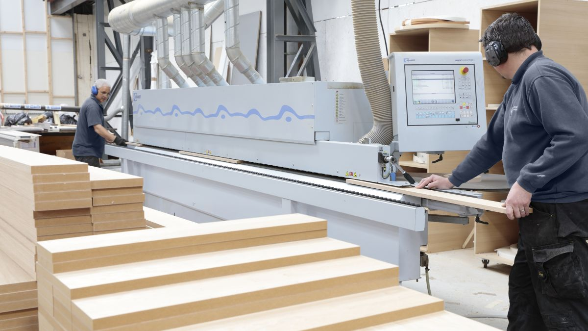 automatic edge banding machine in Aspen Concepts factory