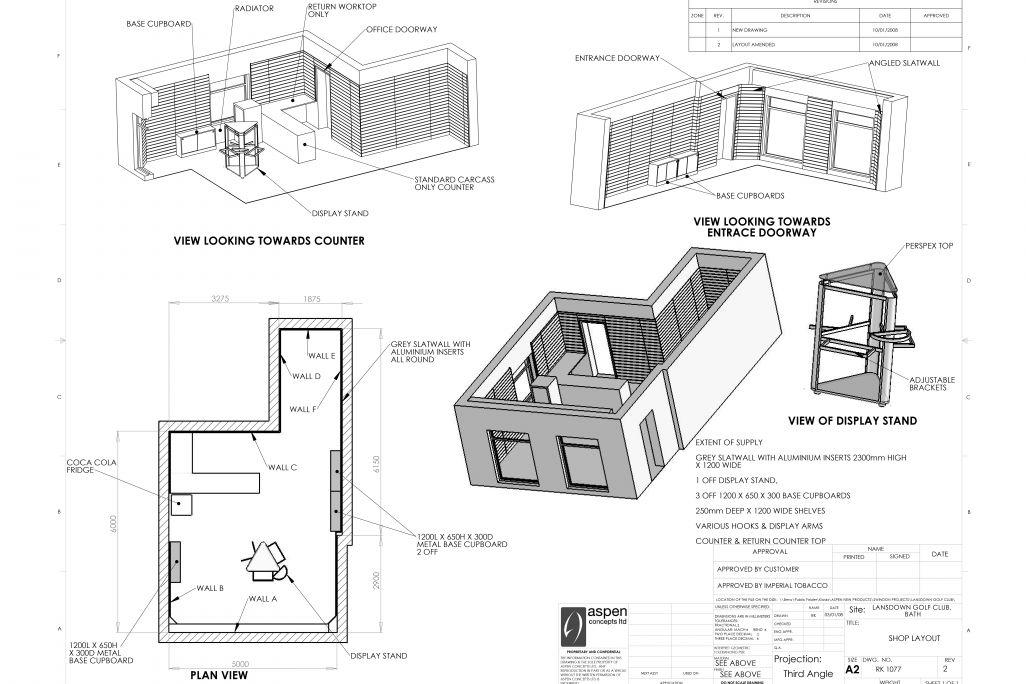 golf shop design plans by Aspen Concepts