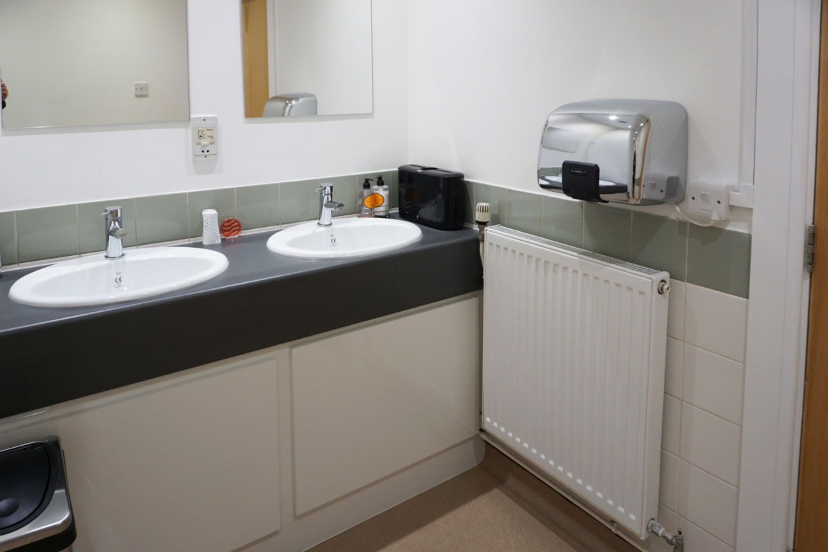 toilet vanity unit for office environment manufactured by Aspen Concepts
