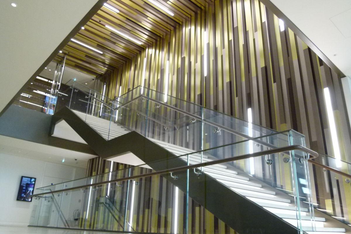Atrium aluminium cladding installed by Aspen Concepts