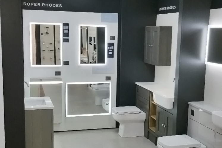 Roper Rhodes Bathroom Display Manufactured By Aspen Concepts And Installed
