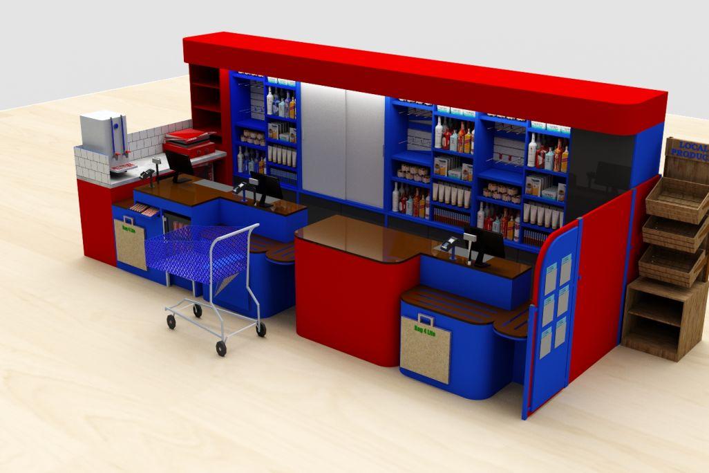 convenience store counter 3D render by Aspen Concepts Ltd