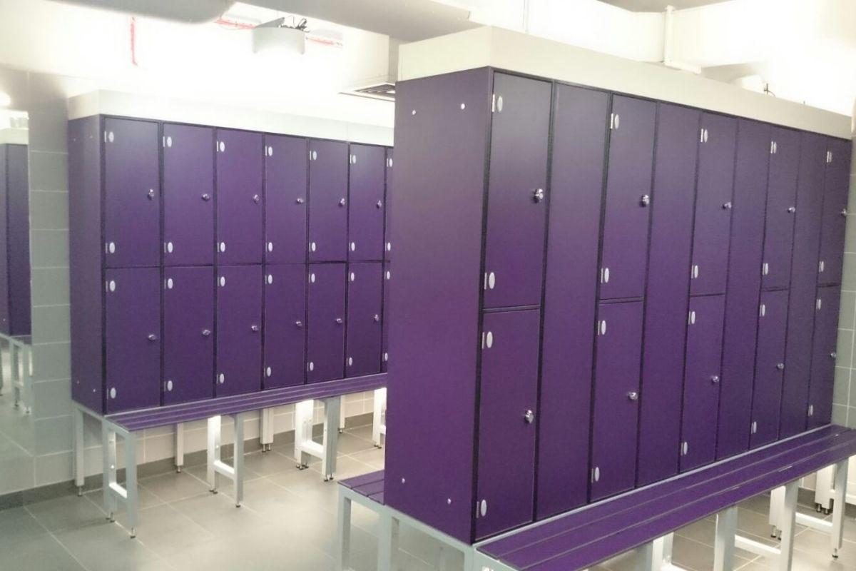 lockers in purple