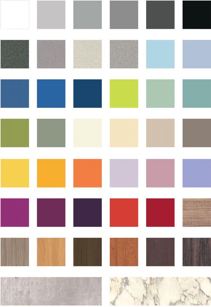 Compact Grade Laminate colours