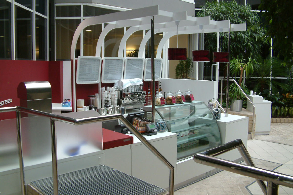 shopping mall kiosk stand