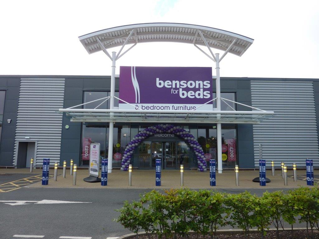 Bensons for beds Edinburgh store fit-out by Aspen Concepts June 2018