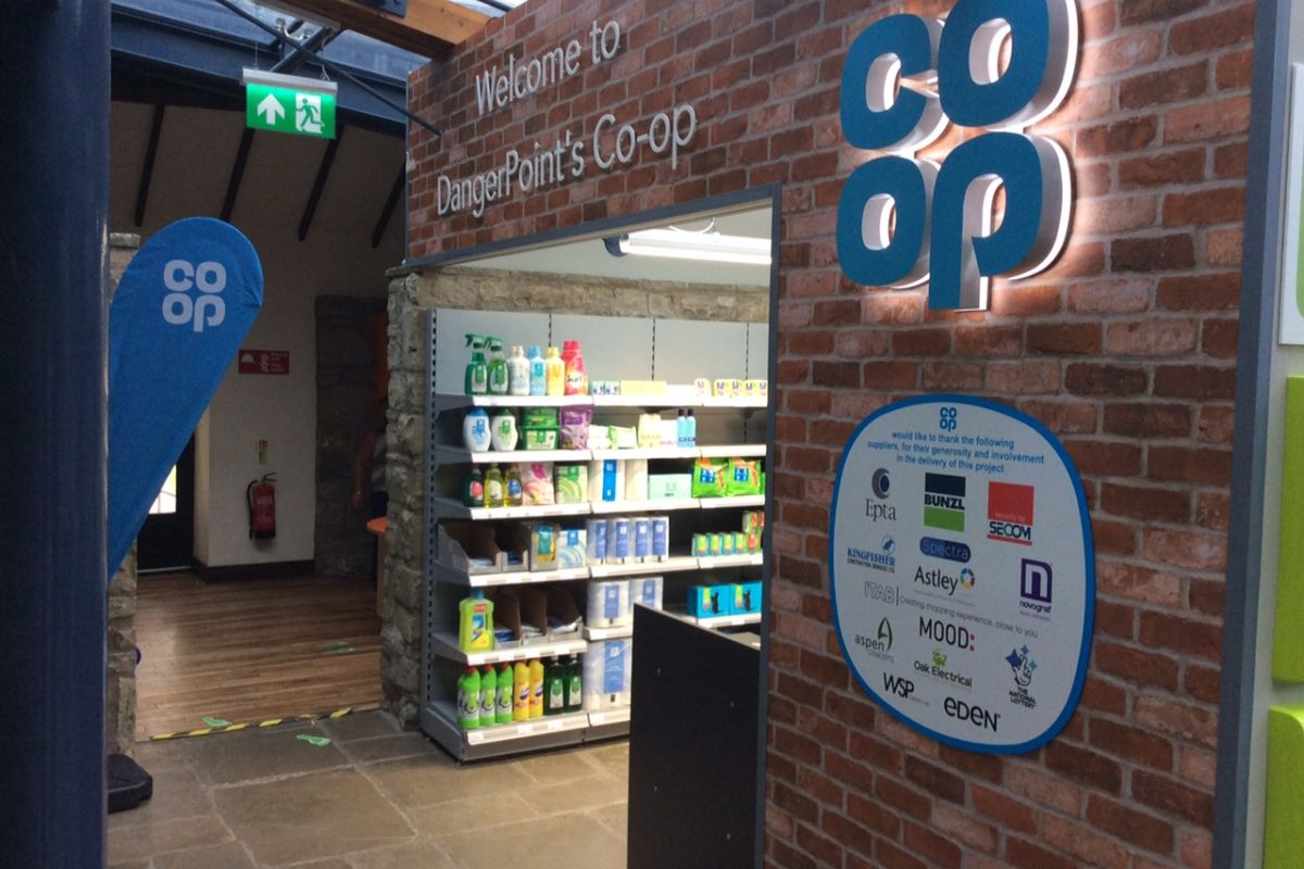 Co-op Dangerpoint Shop entrance