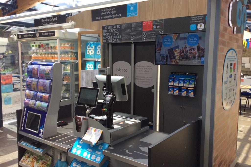 Co-op Dangerpoint Shop till and cigarette cabinet