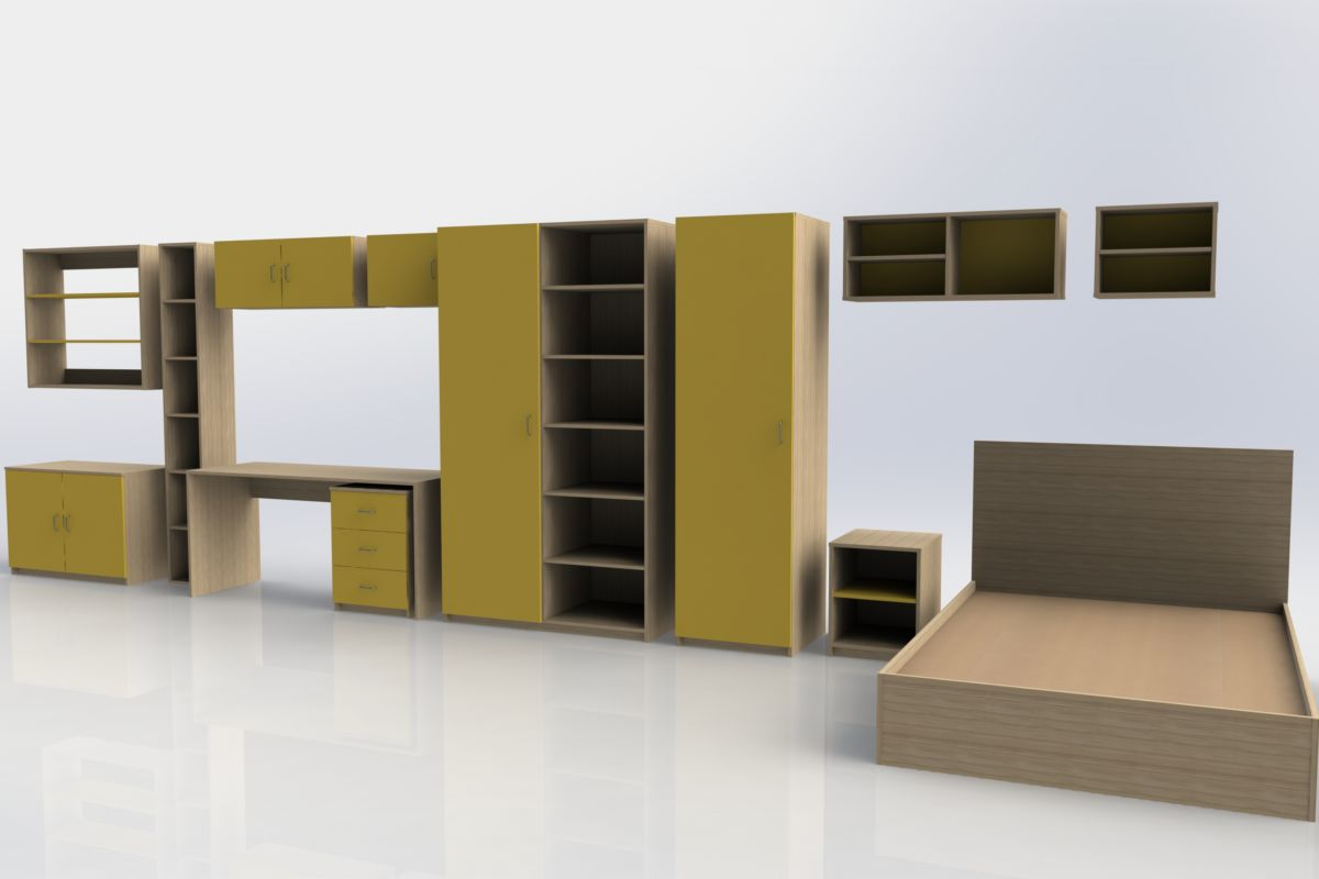 Student accommodation furniture - green