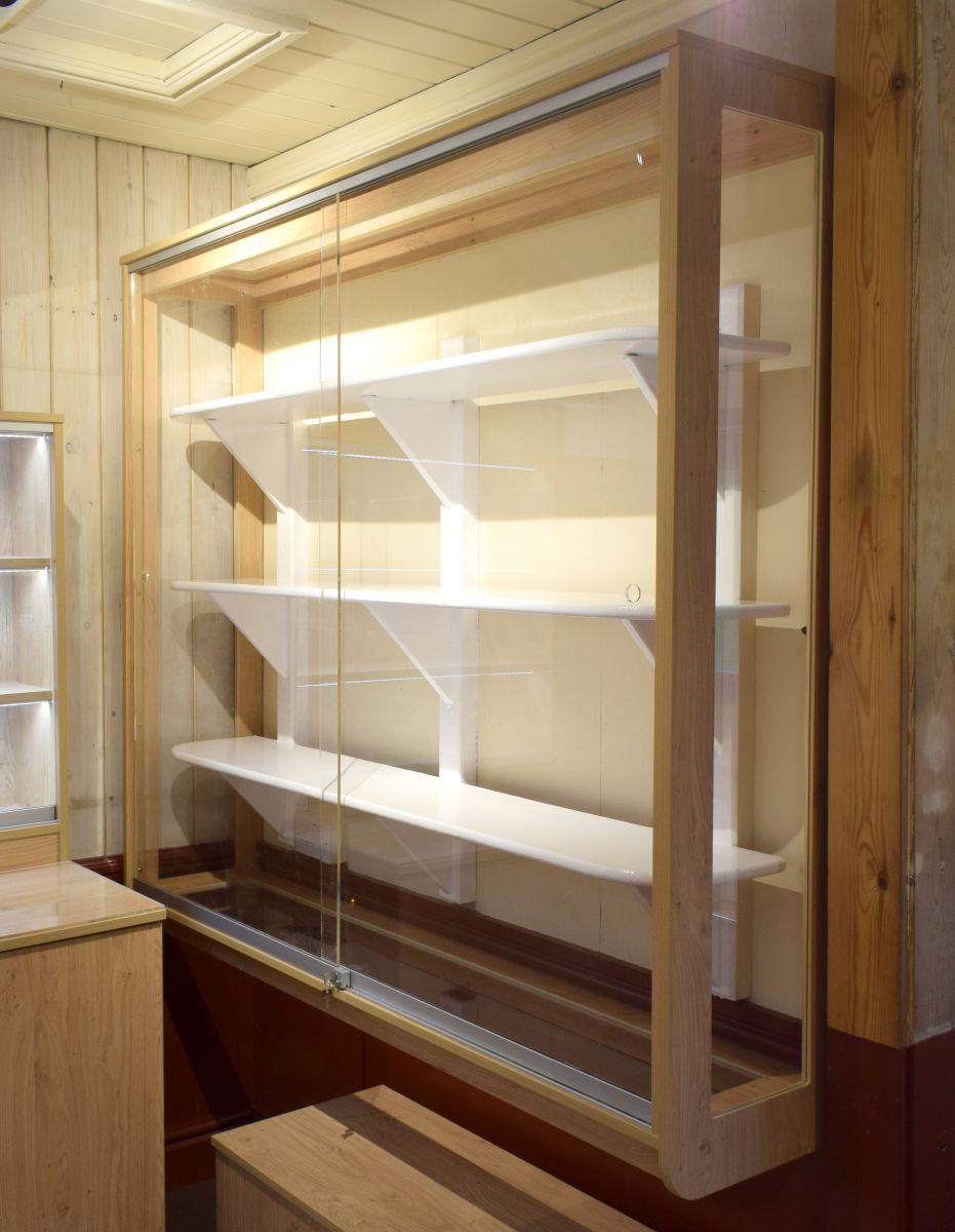 school trophy cabinet