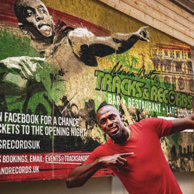 Usain Bolt Tracks & Records bar London