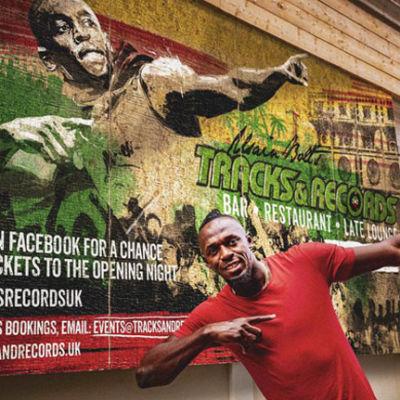 Usain Bolt Tracks & Records bar London