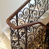 wooden handrail balustrade