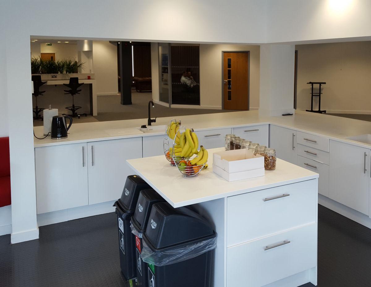 office interior Rocket X Newcastle iinsdie kitchen area