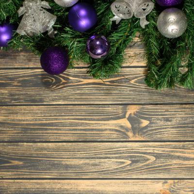 Aspen Purple baubles for Christmas 2018