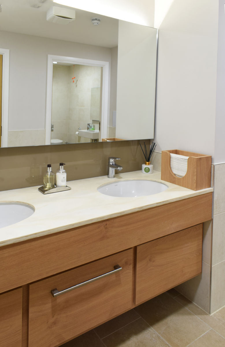 Staff Washroom vanity unit double sink