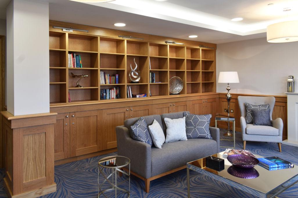 bespoke joinery - retirement home library shelving