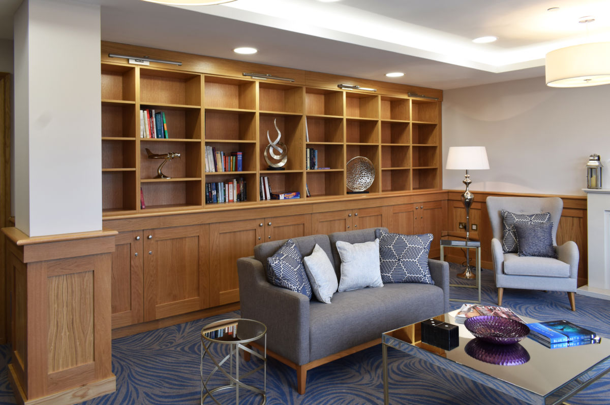 bespoke joinery - retirement home library shelving