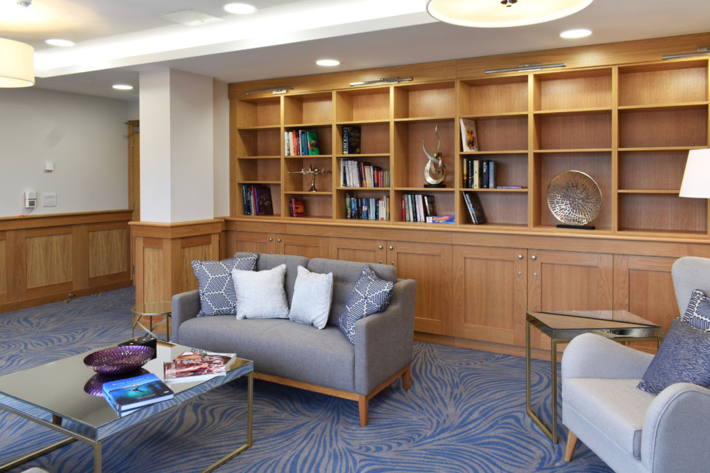 retirement village library - bespoke joinery