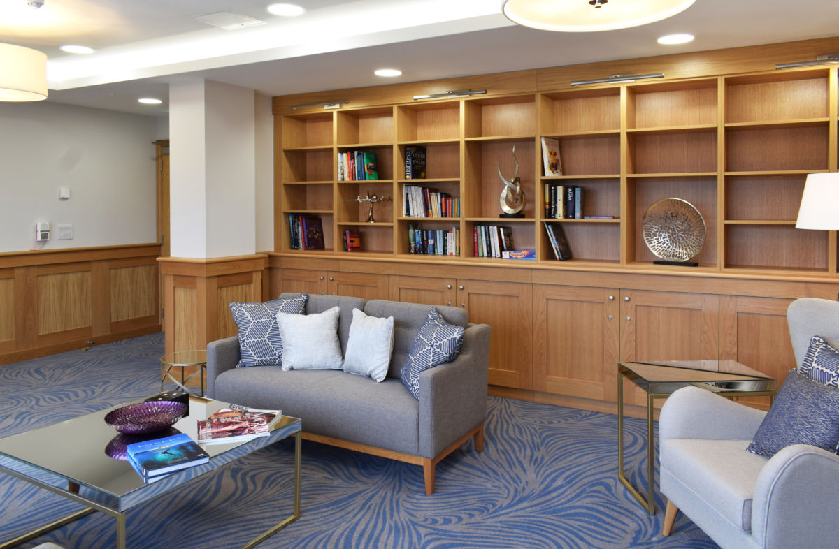 retirement village library - bespoke joinery
