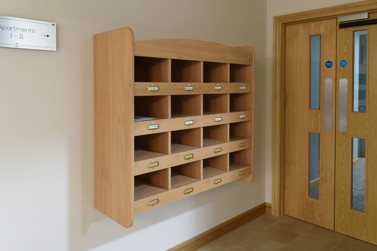 bespoke joinery wooden pigeon holes