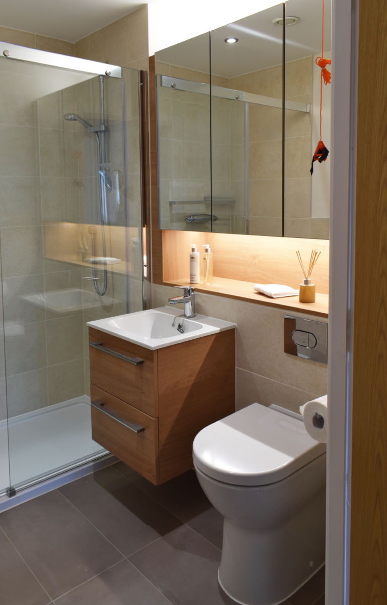 castle view retirement home small vanity unit and cupboards bathroom