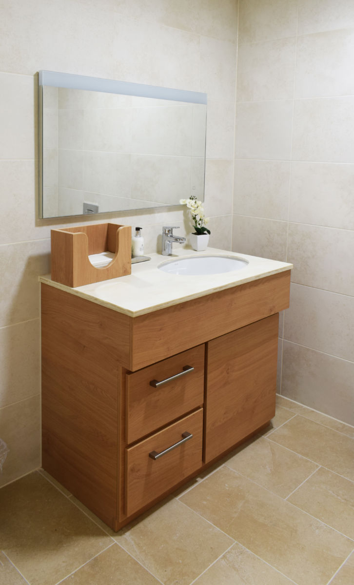 Castle View retirement home Windsor - residence bathroom large vanity unit