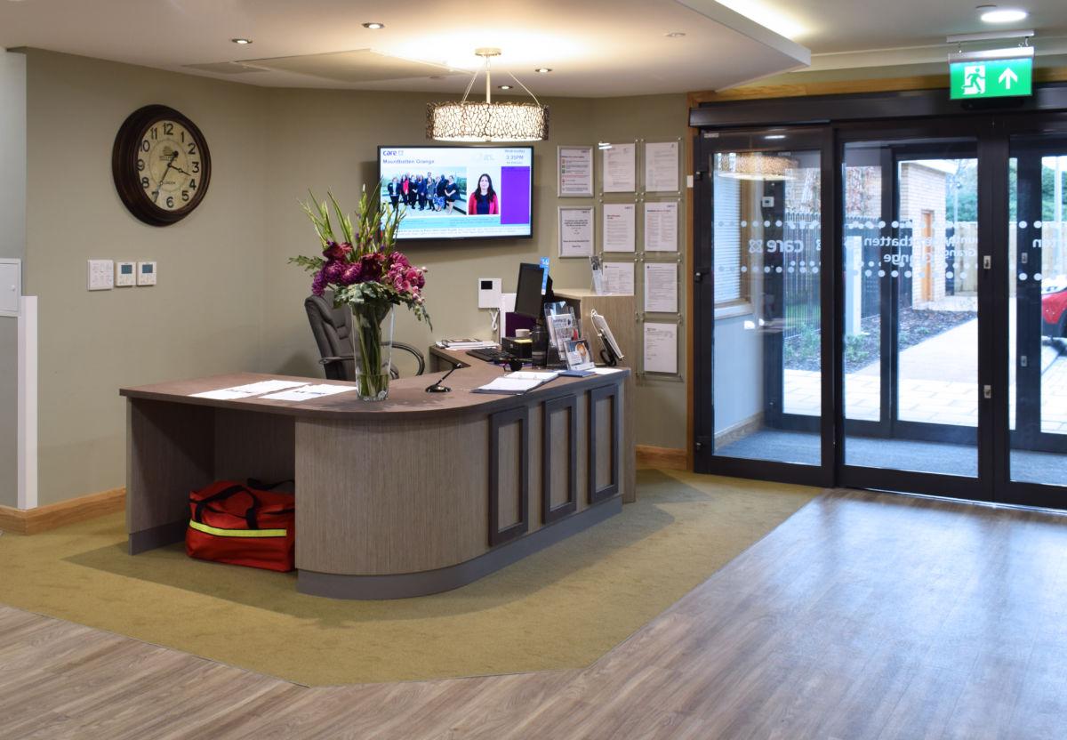 Reception desk care home