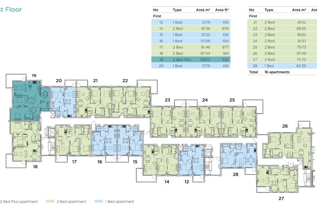 Castle view retirement home floor plan