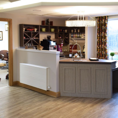 Mountbatten Grange care uk home cafe counter