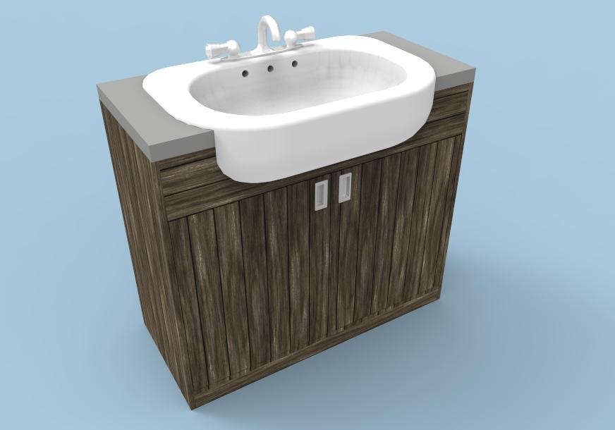 vanity unit design 3D render